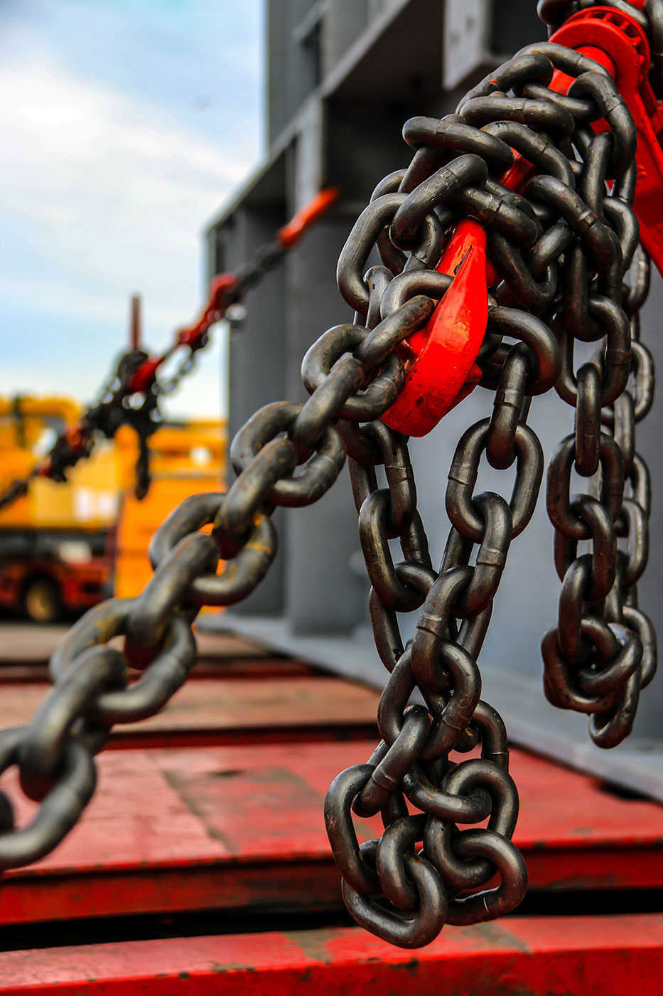 Chains to keep boats in place